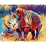 DIY pintura por números para adultos Kits de animales pintados pintura acrílica para colorear por números regalo pintado a mano A1 50x70cm