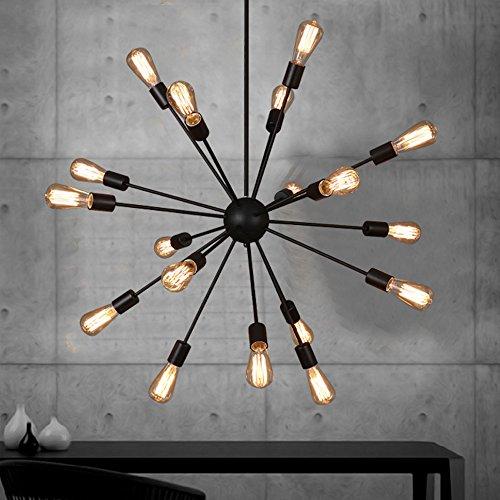 Pionthx Loft Retro 18-Light Metall Pendelleuchte Kronleuchter Antike Kreative Satelliten E27 Edison Decke Hängelampe für Bar Restaurant Clubhouse Wohnzimmer