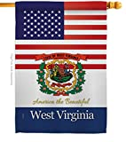 States US West Virginia House Flag Regional USA American Territories Republic Country Particular Area Small Decorative Gift Yard Banner Double-Sided Made in 28 X 40