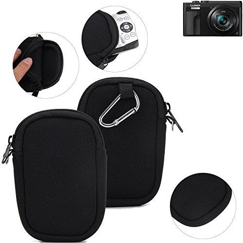 K-S-Trade Kameratasche Kompatibel Mit Panasonic Lumix DC-TZ91 Schutz Hülle Kompaktkamera Tasche Travelbag Sleeve Case Neopren Fototasche Schwarz 1x