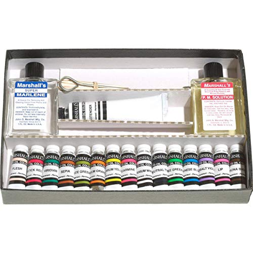 Marshall's Photo Coloring System Hobby Oil Set, for Hand Coloring Black & White and Color Photographs