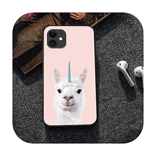 Alpaca - Carcasa para iPhone 5, 5s, se 2, 6, 6s, 7, 8, 12 mini plus X, XS XR 11 Pro Max, color negro