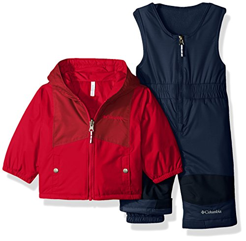 Product Image of the Columbia Baby Girls' Double Flake Set, Mountain Red, Beet, 6-12 Months