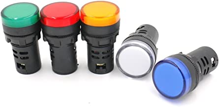 Sourcingmap 2 Pcs Vert LED Rouge T/émoin Lumineux Panneau Clignotant 22mm AC 110V 20mA