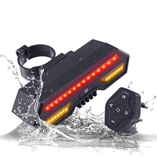 shenruifa Fahrradrücklichter USB Wiederaufladbares Rücklicht mit Blinker Drahtlose Fernbedienung Fahrradrücklicht Sicherheitswarnung Fahrradbremslichter und Blinklichter