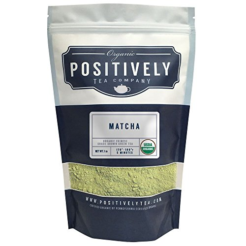 Positively Tea Company, Organic Chinese Matcha, Green Tea, Culinary Grade Powder, 1 Pound Bag