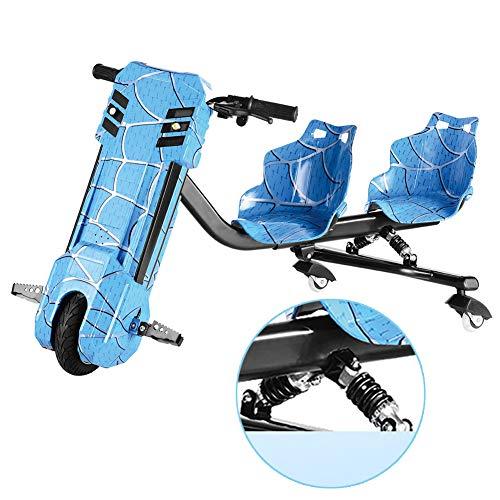 Kickroller Elektro Motor Dreirad Power Rider 360 3-Stufiges Design Mit Einstellbarer Länge Hinzugefügt Geeignet Für Kinder Über 6 Jahre,Blau