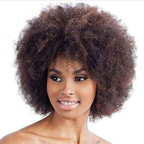 Vrouwen Korte Afro Krullend Haar Zwarte Pruiken voor Zwarte Vrouwen, Zachte Natuurlijke Synthetische Haar Pruiken, voor Cosplay Party Dagelijks Gebruik Pruiken
