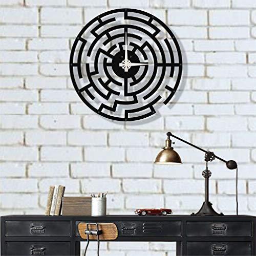 Dekadron Design unique Horloge murale en métal Labirent 51x51cm noir