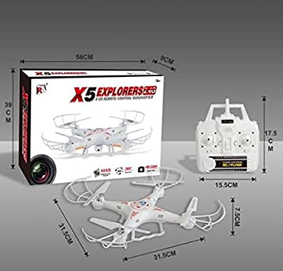 SGM® Quadcopter w/ HD Camera. Remote Control 6 Axis Gyro 007 Spy Explorers 4 Channel 2.4GHz