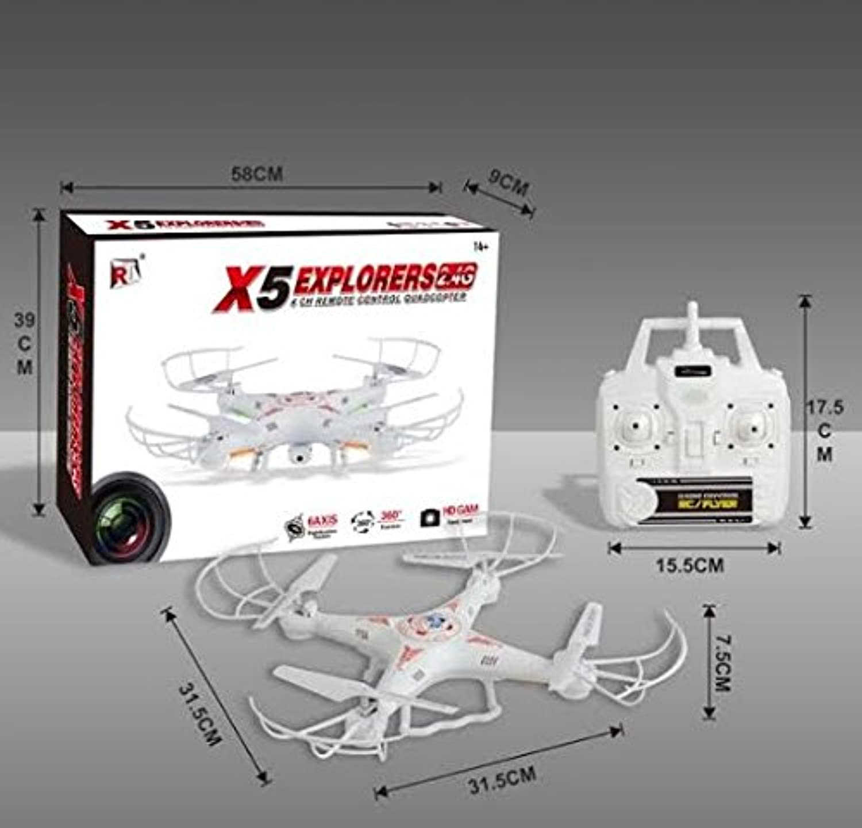 SGM Quadcopter w  HD Camera. Remote Control 6 Axis Gyro 007 Spy Explorers 4 Channel 2.4GHz