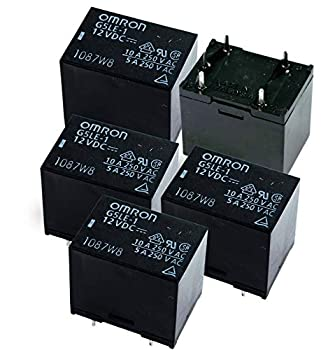 OMRON ELECTRONIC COMPONENTS G5LE-1-DC12 POWER RELAY SPDT 12VDC 10A PC BOARD  5 pieces