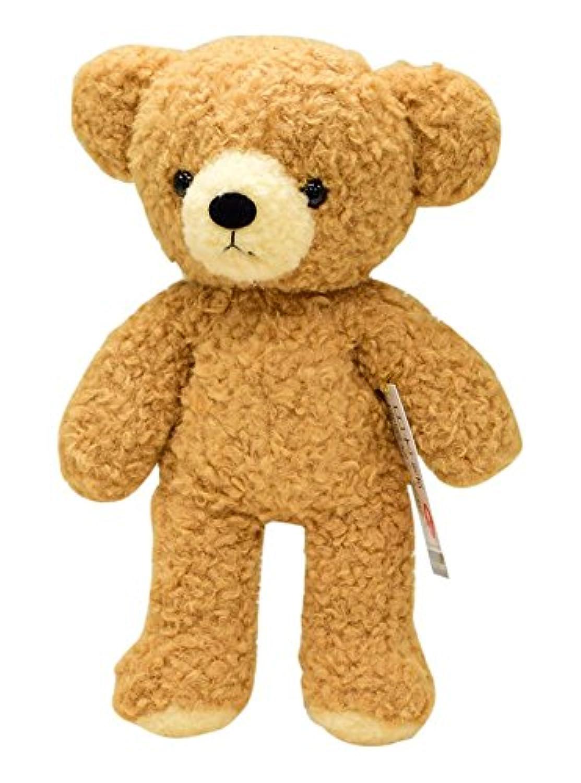 童心オリジナル 日本製 クマのフカフカM ぬいぐるみ 高さ29cm ブラウン