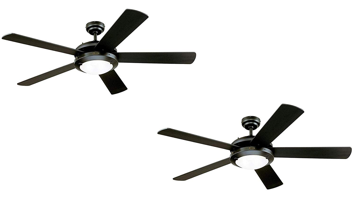 Westinghouse Comet 52 Inch Matte Black Indoor Ceiling Fan Light Kit With Frosted Glass Black 2 Pack Black 2 Pack Buy Online In Guam At Guam Desertcart Com Productid 125489340