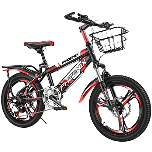 Axdwfd Kids Bike Children's Bicycle Mountain Bike Variable Speed 7-14 Years Old Boys And Girls Bicycles Students Bicycles Bicycle(Size:20in,Color:Red)