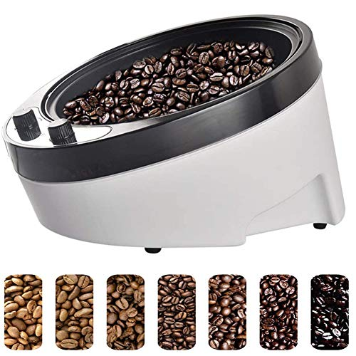GWQDJ 1800W Elektrische Kaffee Röster Maschine,Kaffeeröster Kaffeebohnen Bratmaschine Haushalt Edelstahl Neigung um 45 °Gleichmäßig Backen Elektrischer Rotations-Kaffeeröste
