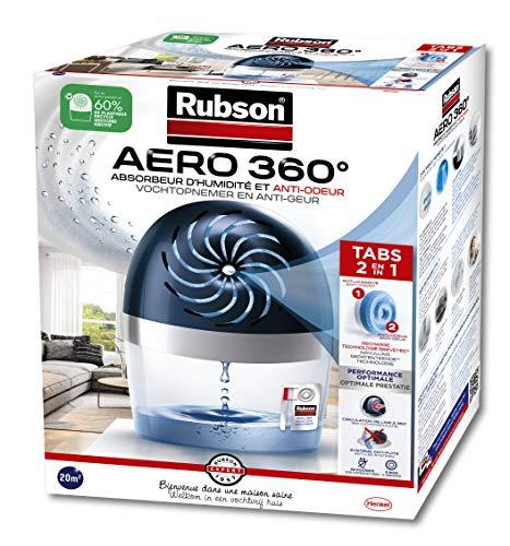 Rubson AERO 360° Absorbeur d'humidité pour pièces de...