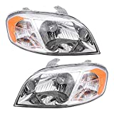 Aftermarket Replacement Driver and Passenger Set Headlights Compatible with 2007-2011 Aveo Sedan 96650525 96650526