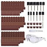 Tonsiki 385 Pieces Sanding Drum Kit, Including 360PCS Sanding Sleeves, 12PCS...