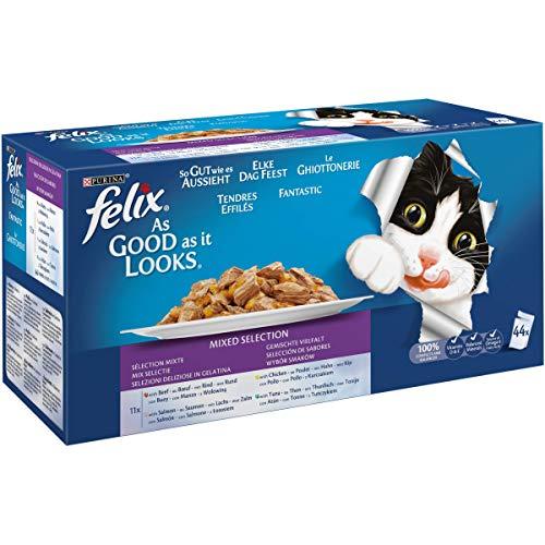 Purina Felix Fantastic comida para gato surtido variado Pack 44 x 100 g ⭐