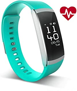 iWOWNfit Fitness Tracker i6 Pro Heart Rate Monitor Smart Watch Bluetooth 4.0 for iOS 8.0/Above Android 4.4/Above (Green)