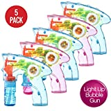 Best Bubble Guns - Prextex Pack of 5 wind up bubble shooter Review