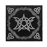 pentagrama pagano y altar de franela A dise/ño de triple luna Mantel de tarot de 49 x 49 cm