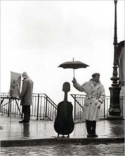 Close Up EIN Musiker im Regen Kunstdruck Robert Doisneau (24cm x 30cm)