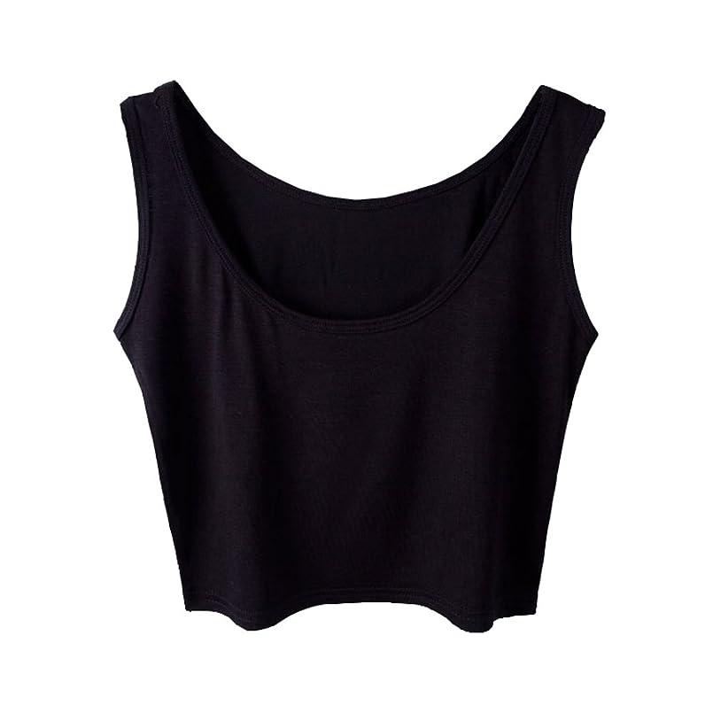 Micmall Women's Tanks & Camis Camisole Short U-Neck Tight-Fitting Thin Crop Vest oaegkwzy5