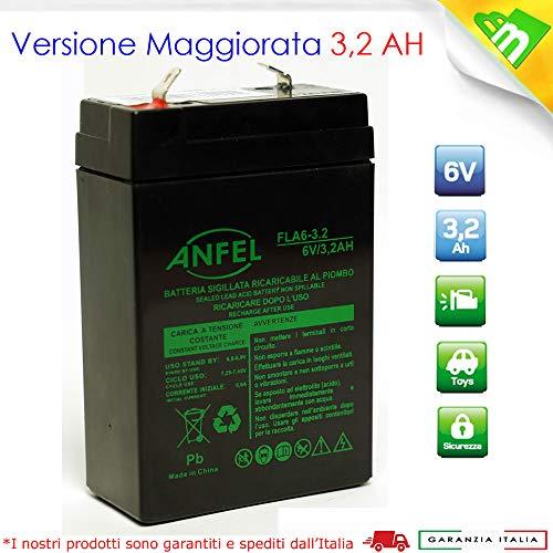 Batteria accumulatore per beghelli 6 volt 2,8ah rt628 per lampada 1499