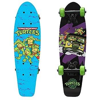 PlayWheels Teenage Mutant Ninja Turtles 21  Wood Cruiser Skateboard Turtles on the Go
