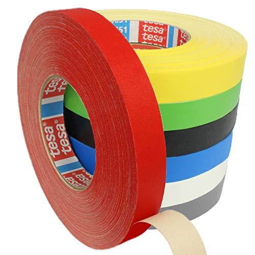 Tesa 4651 Premium Gewebeband verschiedene Breiten und Farben wählbar/rot 12 mm x 50 m