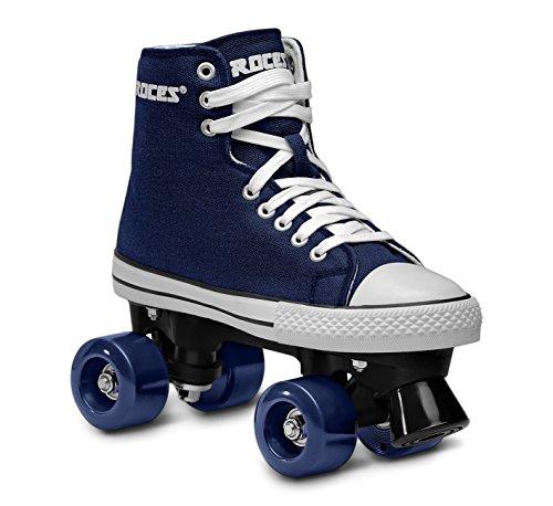 Roces Kinder Rollerskates/Rollschuhe Street Chuck Classic Roller, blau-weiß, 35, 550030-001