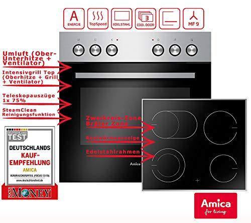 AMICA EHC 933 011 E Einbauherdset (CERAN® Kochfeld, A, 65 Liter)