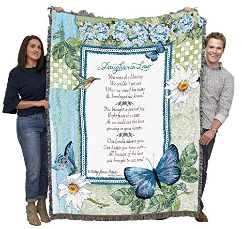 Pure Country Weavers Daughter-in-Law - Blanket Throw Woven from Cotton - Made in The USA (72x54)