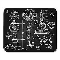 マウスパッドリニアラボビンテージラボサイエンスオブジェクト落書きスケッチ学校に戻る錬金術オカルト化学マウスパッド