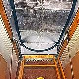Ksruee Cubierta Aislante para escaleras del ático, 25'x 54' x...