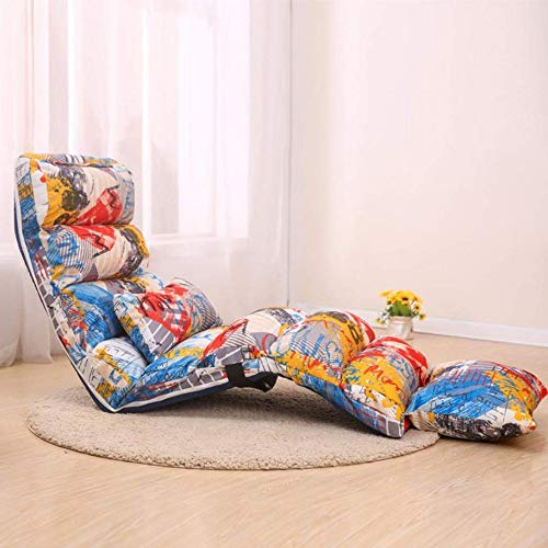 Floor uitklapbare Lounger for Bed and Game kamers, Reading, fauteuil, stoel, bank Alternative, Portable Lazy Sofa met rugsteun, for volwassenen, Meditatie Seminars Gaming Lounge (Color : B)