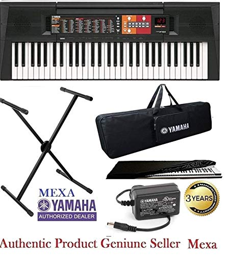 Yamaha Keyboard PSR-F51, 61-Keys Portable With Gig Bag; Stand; Dust Cover & Power Adapter Combo Pack.