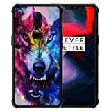 for OnePlus 6 Case Space Galaxy Nebula Wolf Pattern, ABLOOMBOX Slim Thin Anti-Scratch Flexible Bumper Case with Reinforced Corner for OnePlus 6 Phone Case