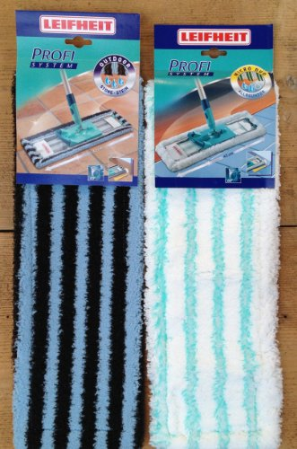 NEU Leifheit Wischbezug Set 1x Micro duo 55120 (für Stein u. Parkett) u. 1x Outdoor 55142 (für die Terasse) für den Bodenwischer Profi Wisch-Breite 42cm