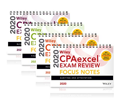 Wiley CPAexcel Exam Review 2020 Focus Notes: Complete Set
