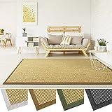 casa pura Grand Tapis de Salon 100% sisal Naturel | avec Bordure Coton | 4 Couleurs et 2 Tailles | Tiger Eye, Beige - 160x230cm