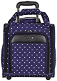 Kenneth Cole Reaction Dot Matrix 14' Lightweight 2-Wheel Underseater Carry-On Luggage, Navy