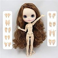 ブライス Blythy 人形9158 ブラウン毛サイド別れマット面フェイス唇彫る白スキン 30 センチメートル 1/6,doll with hands AB,matte face