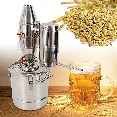 TFCFL 30L Edelstahl Destillieranlage Bierbrauanlage,Alkohol Wasser Destille Schnapsbrennen mit Pump