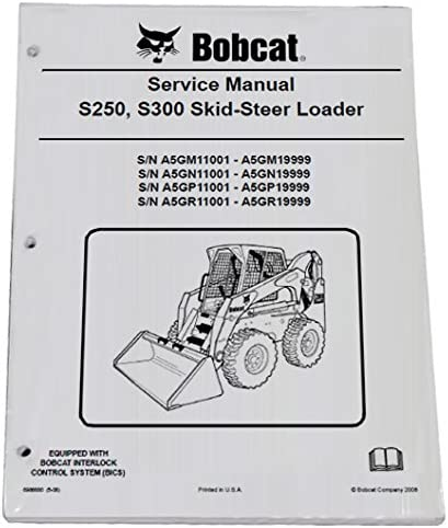 Bobcat Recommended Skid Steer S250 S300 Manual Workshop Service Repair 55% OFF Book