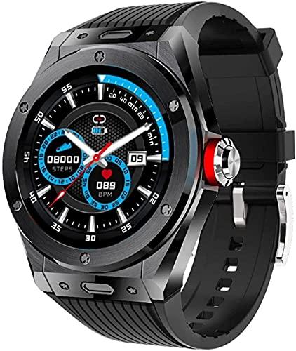 Hombres s y mujeres s relojes inteligentes multi-deportes fitness trackers Bluetooth llamada música control y otras pulseras multifunción-negro