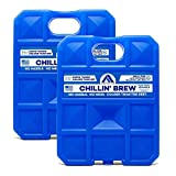 Arctic Ice Chillin' Brew Series Long Lasting High Performance Ice Pack for Beer, Beverages, Tailgating, Day Trips and More - Freezes at 28 Degrees (2-Pack) (Large 2.5 LB)