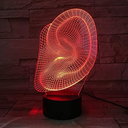 Abstrakte Ohrform Lampenständerlampe Halloween-Dekoration Geschenk Kinderurlaub Lava Lampe Drop Boot